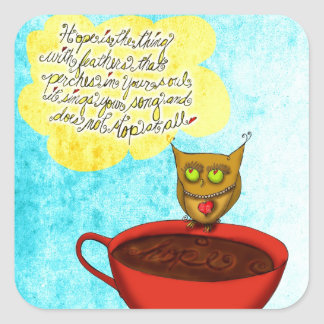 Hope floats Coffee Love Square Sticker