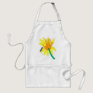 Hope Flower Adult Apron