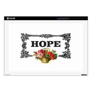 "hope flower basket decal for 17"" laptop"