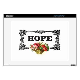 hope flower basket decal for laptop