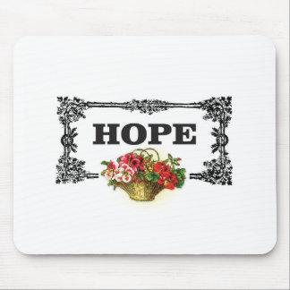hope flower basket mouse pad