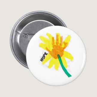 Hope Flower Button