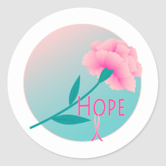 Hope Flower Classic Round Sticker