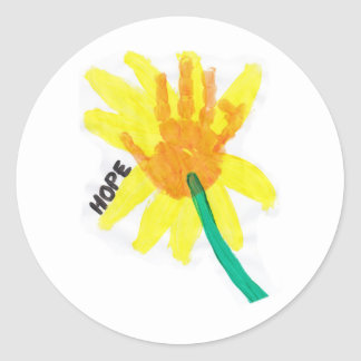 Hope Flower Classic Round Sticker