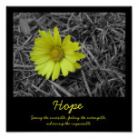Hope Flower Posters