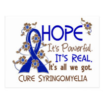 Hope Flower Ribbon Syringomyelia Postcard