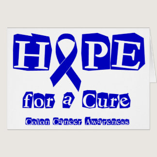 Hope for a Cure - Blue Ribbon Card