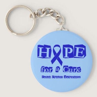 Hope for a Cure - Blue Ribbon Keychain