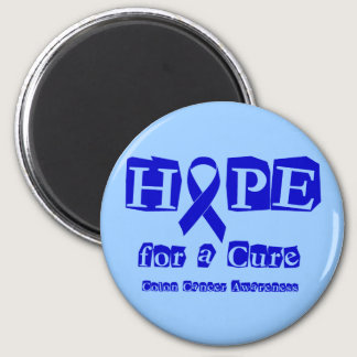 Hope for a Cure - Blue Ribbon Magnet