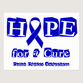 Hope for a Cure - Blue Ribbon Postcard