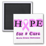 Hope for a Cure - Breast Cancer Fridge Magnet