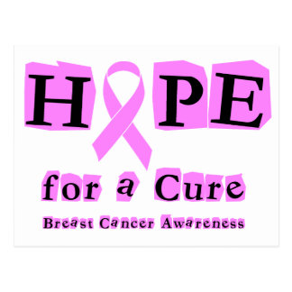 Hope for a Cure - Breast Cancer Pink Ribbon Postcard