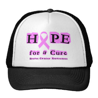 Hope for a Cure - Breast Cancer Pink Ribbon Trucker Hat