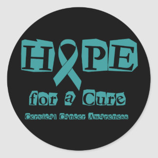 Hope for a Cure - Cervical Cancer Classic Round Sticker