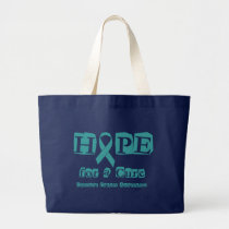 Hope for a Cure - Cervical Cancer Large Tote Bag