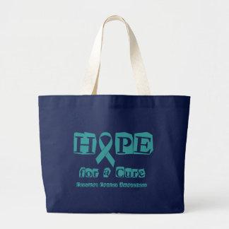 Hope for a Cure - Cervical Cancer Large Tote Bag
