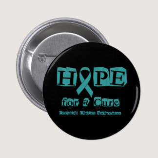 Hope for a Cure - Cervical Cancer Pinback Button
