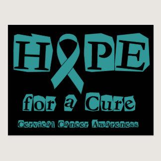 Hope for a Cure - Cervical Cancer Postcard