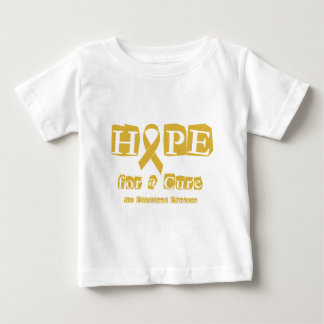 Hope for a Cure - Childhood Cancer Gold Ribbon Baby T-Shirt