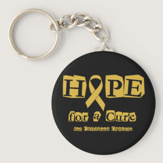 Hope for a Cure - Childhood Cancer Gold Ribbon Keychain