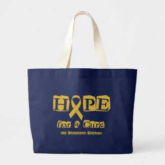 Hope for a Cure - Childhood Cancer Gold Ribbon Large Tote Bag