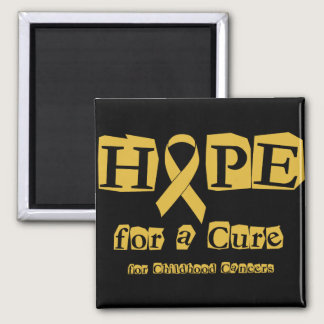 Hope for a Cure - Childhood Cancer Gold Ribbon Magnet