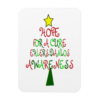 Hope For a Cure EDS Christmas Tree Flexible Magnet