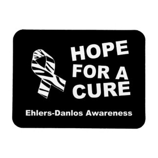 Hope For a Cure EDS Zebra Ribbon Flexible Magnet