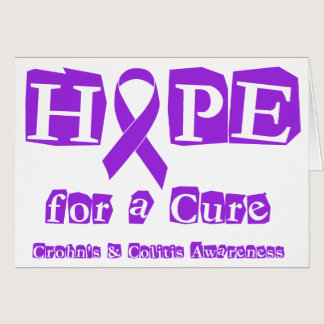 Hope for a Cure for Crohn's & Colitis Card