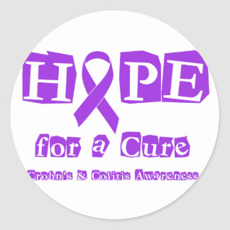 Hope for a Cure for Crohn's & Colitis Classic Round Sticker