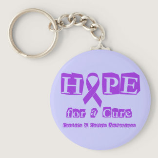 Hope for a Cure for Crohn's & Colitis Keychain