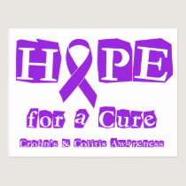 Hope for a Cure for Crohn's & Colitis Postcard