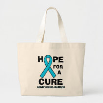 Hope For A Cure...Graves' Large Tote Bag