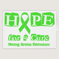 Hope for a Cure - Kidney Cancer Card