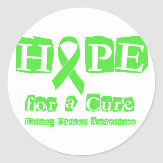 Hope for a Cure - Kidney Cancer Classic Round Sticker