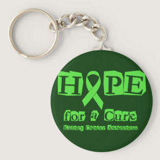 Hope for a Cure - Kidney Cancer Keychain