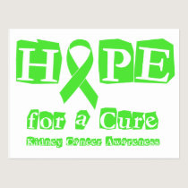 Hope for a Cure - Kidney Cancer Postcard