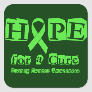 Hope for a Cure - Kidney Cancer Square Sticker