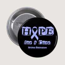 Hope for a Cure - Lavender Ribbon General Cancer Button