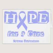 Hope for a Cure - Lavender Ribbon General Cancer Card