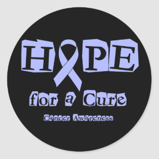 Hope for a Cure - Lavender Ribbon General Cancer Classic Round Sticker