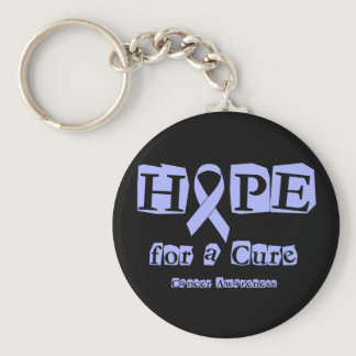 Hope for a Cure - Lavender Ribbon General Cancer Keychain