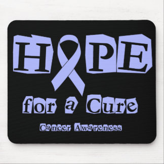 Hope for a Cure - Lavender Ribbon General Cancer Mouse Pad