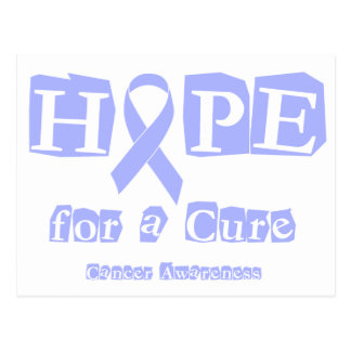 Hope for a Cure - Lavender Ribbon General Cancer Postcard