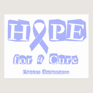 Hope for a Cure - Lavender Ribbon General Cancer Postcard