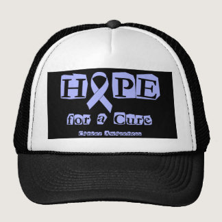 Hope for a Cure - Lavender Ribbon General Cancer Trucker Hat