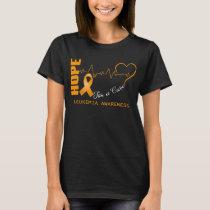 Hope For A Cure Leukemia Awareness T-Shirt