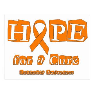 Hope for a Cure - Leukemia Postcard