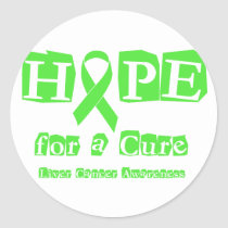 Hope for a Cure - Liver Cancer Classic Round Sticker