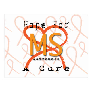 Hope For A Cure - MS Awareness Postcard